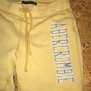 A&F Yellow sweatpants